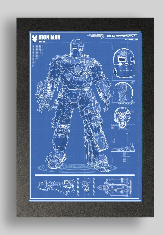 Blueprints 3d Man Iron Armor