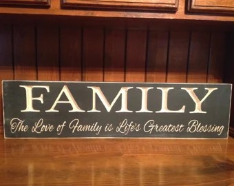 Download Items similar to The love of a Family is one of life's ...