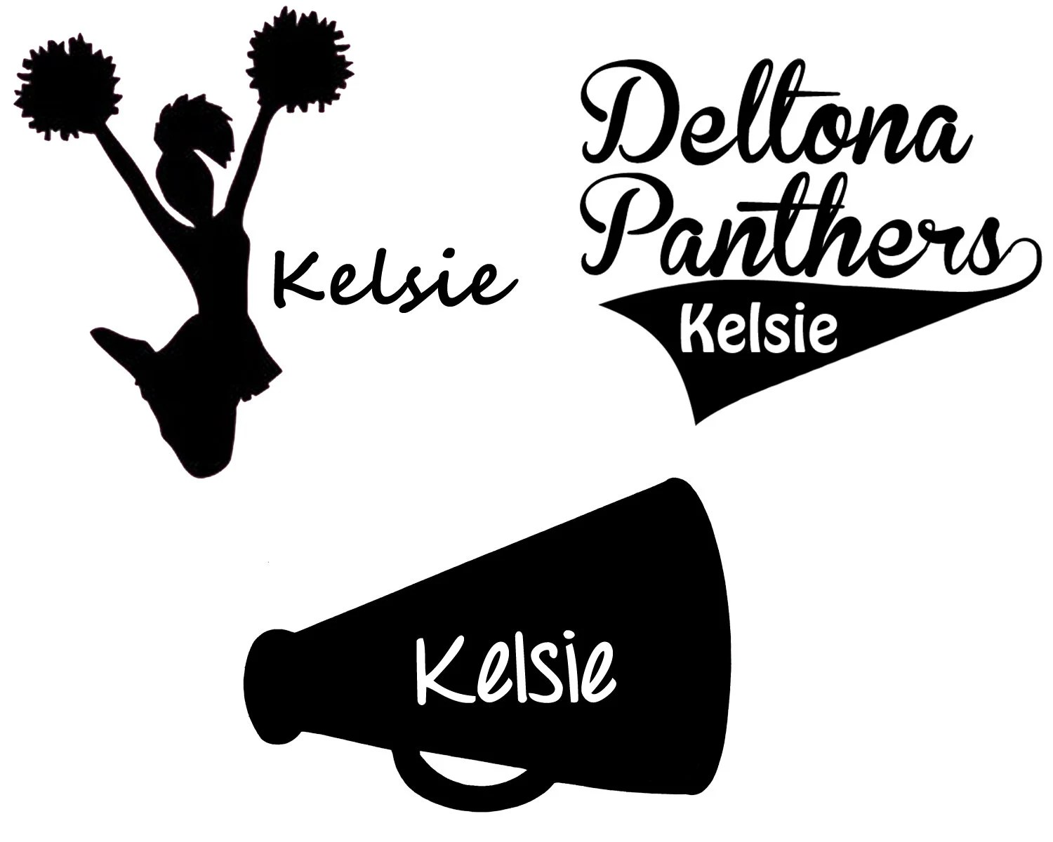 Cheerleading Car Decal Personalized Cheerleader By Mommydecals