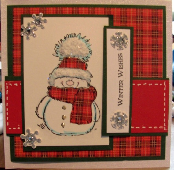 Items similar to Handmade greeting card featuring Penny ...