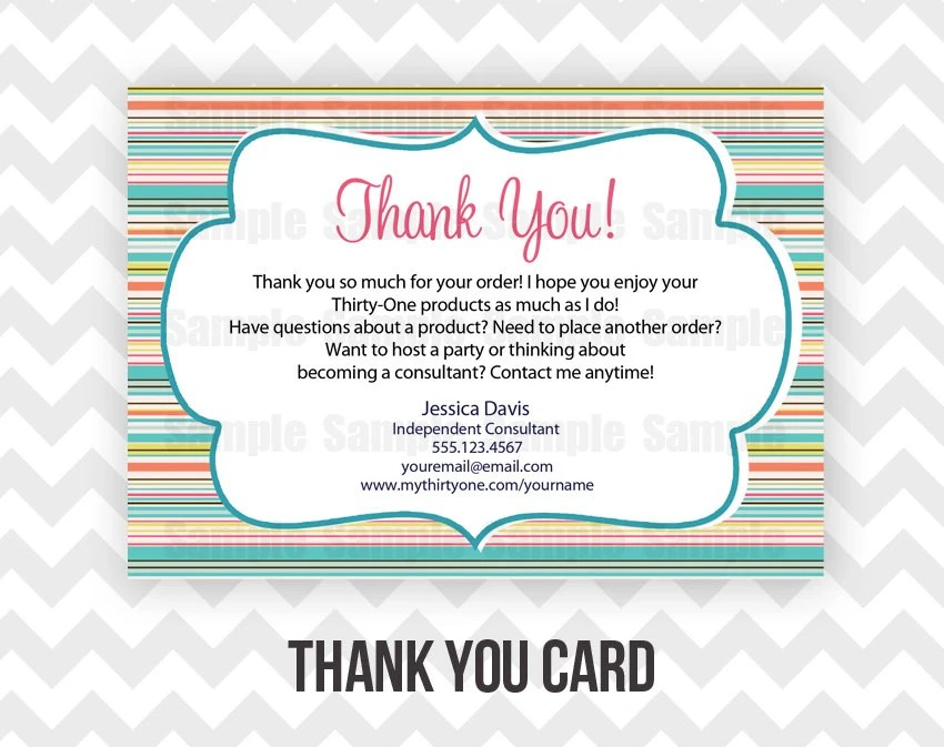 Thank You Your Business Cards Thirty One