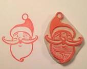 Christmas santa rubber stamp .  Handmade rubber stamp. - ArtfulSunshine