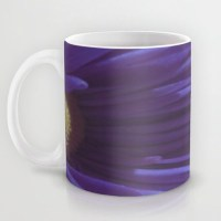 Coffee Mug Featuring my Photo of a Purple Flower. Cup