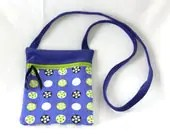 Crossbody Bag, Hip Bag, Crossbody Purse, Crossbody Handbag, Hip Purse, Polka Dot Bag, Blue Purse, Blue Hip Bag, Letterboxing Bag