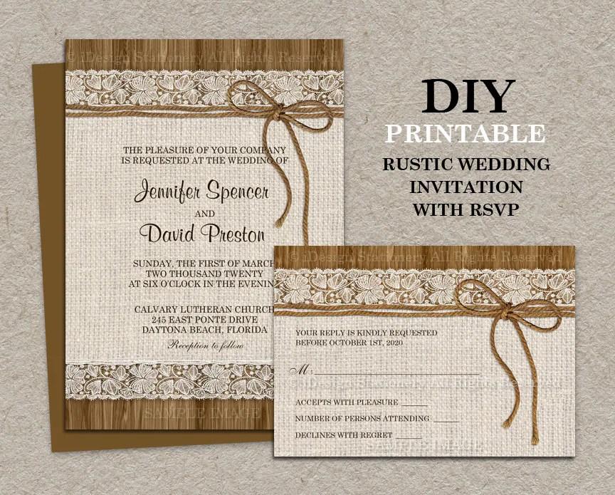 Rustic Wedding Invitations Buy