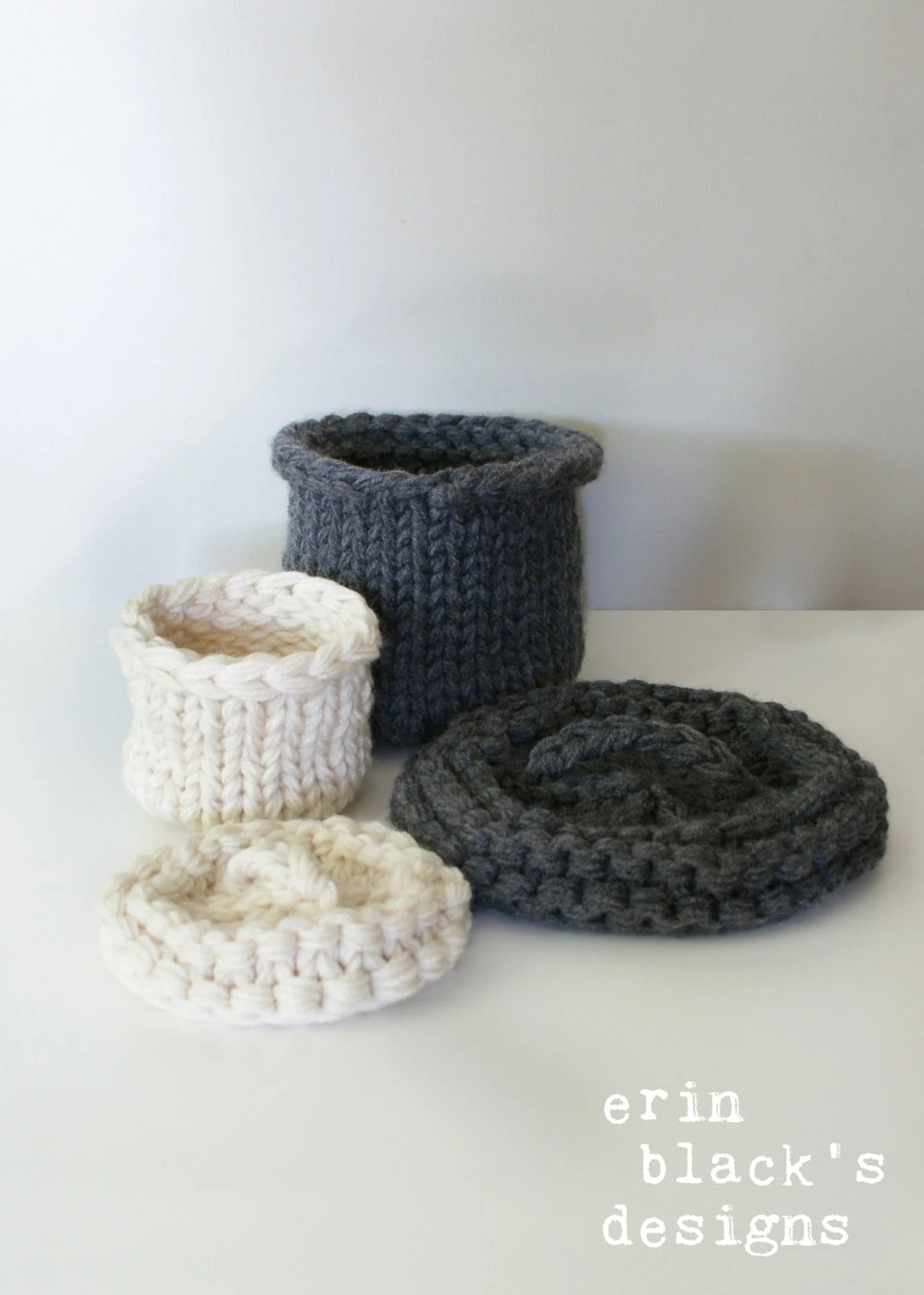 Knitting With Lids For Baskets