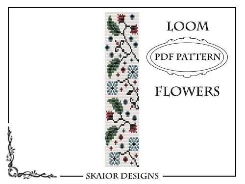 Flower Loom Bead Pattern Square Stitch Leaves Loom