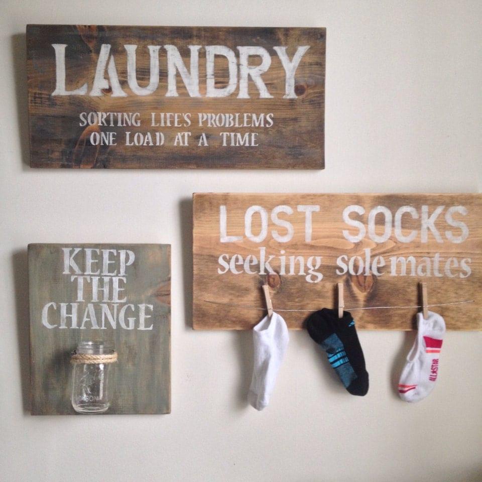Laundry Room Decor by shoponelove on Etsy on Laundry Decoration  id=14617