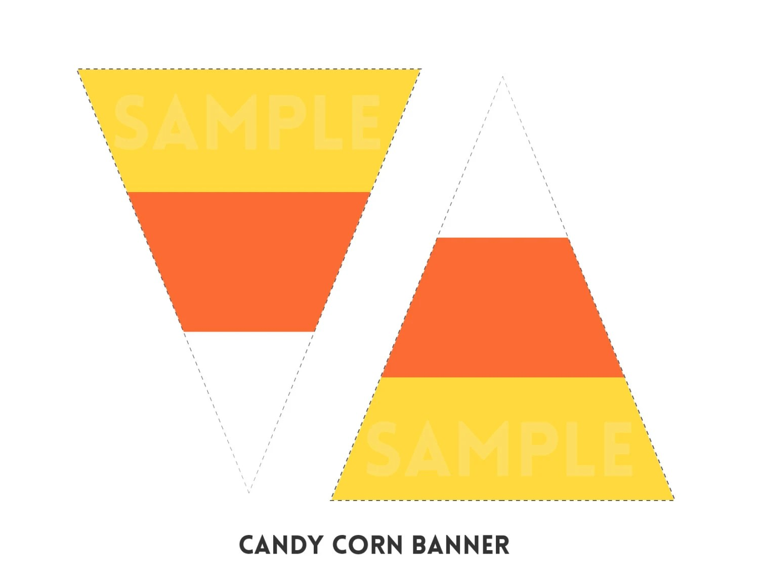 Halloween Candy Corn Printable Triangle Flag By