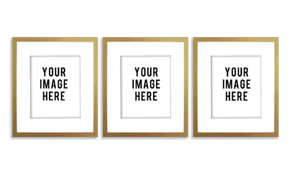Three Frames Mockup Free | Frameswalls.org