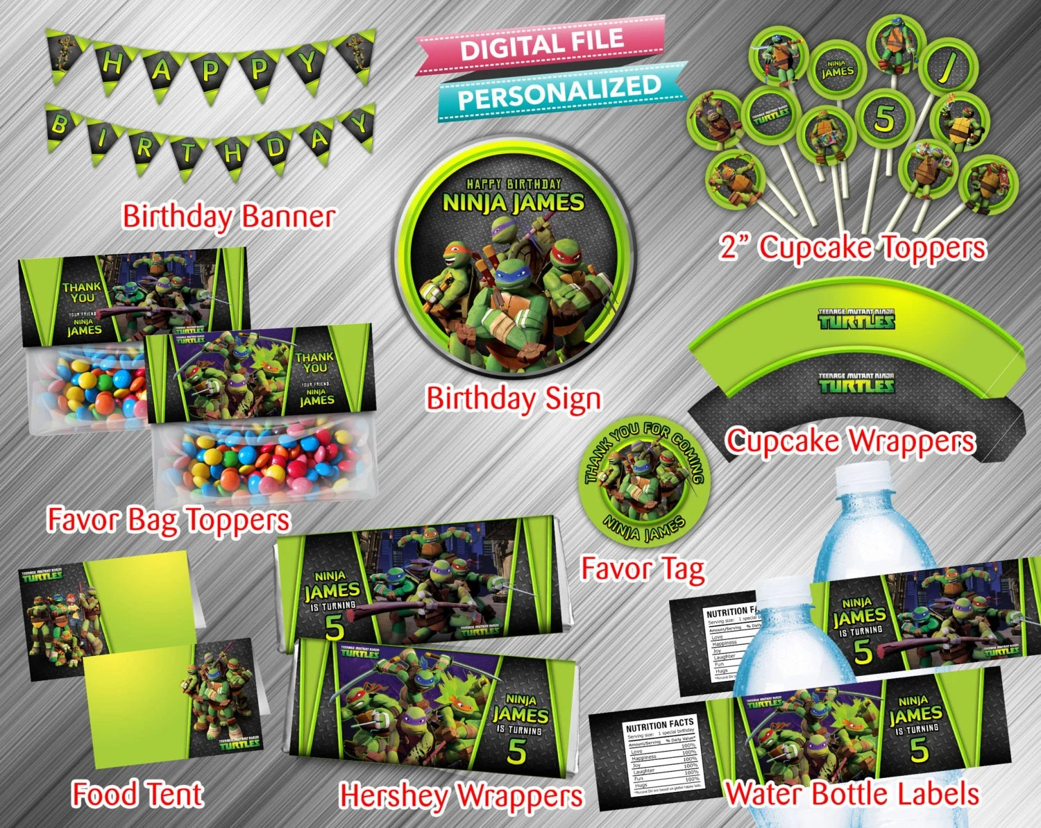 Teenage Mutant Ninja Turtles Printable Party Package