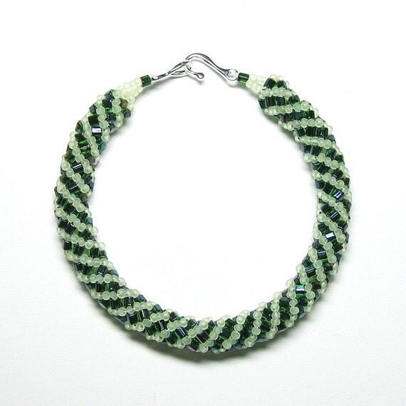 Citrus spritz Russian spiral bracelet