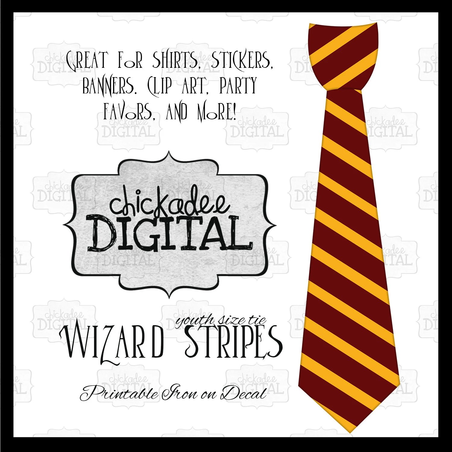 Harry Potter Ties Template
