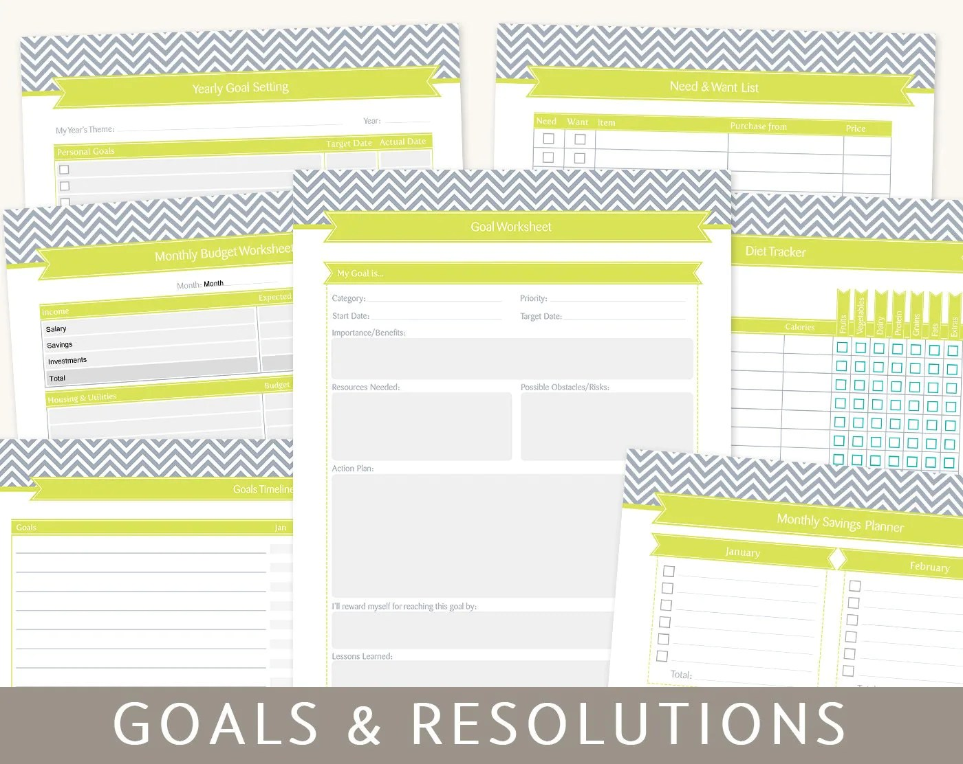 Goals Planner Goal Setting Amp New Year S Resolutions 9 By