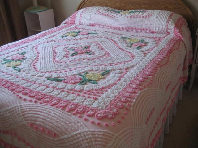 Pink Chenille Bedspread