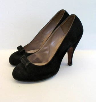 Vintage 1940s Baby Doll Suede shoes - 6