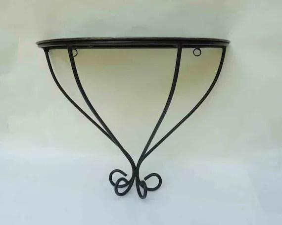 Vintage Black Iron Shelf Wall Decor Wrought Iron Design