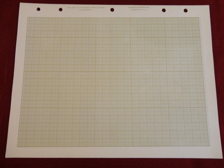 Square Grid Cross Section Graph Papertzgen 340 M