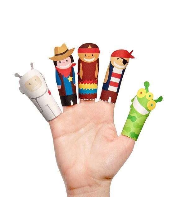 Templates Finger Family Printable Puppet