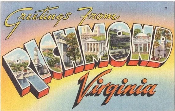 Vintage Virginia Postcard Greetings from Richmond by ...
