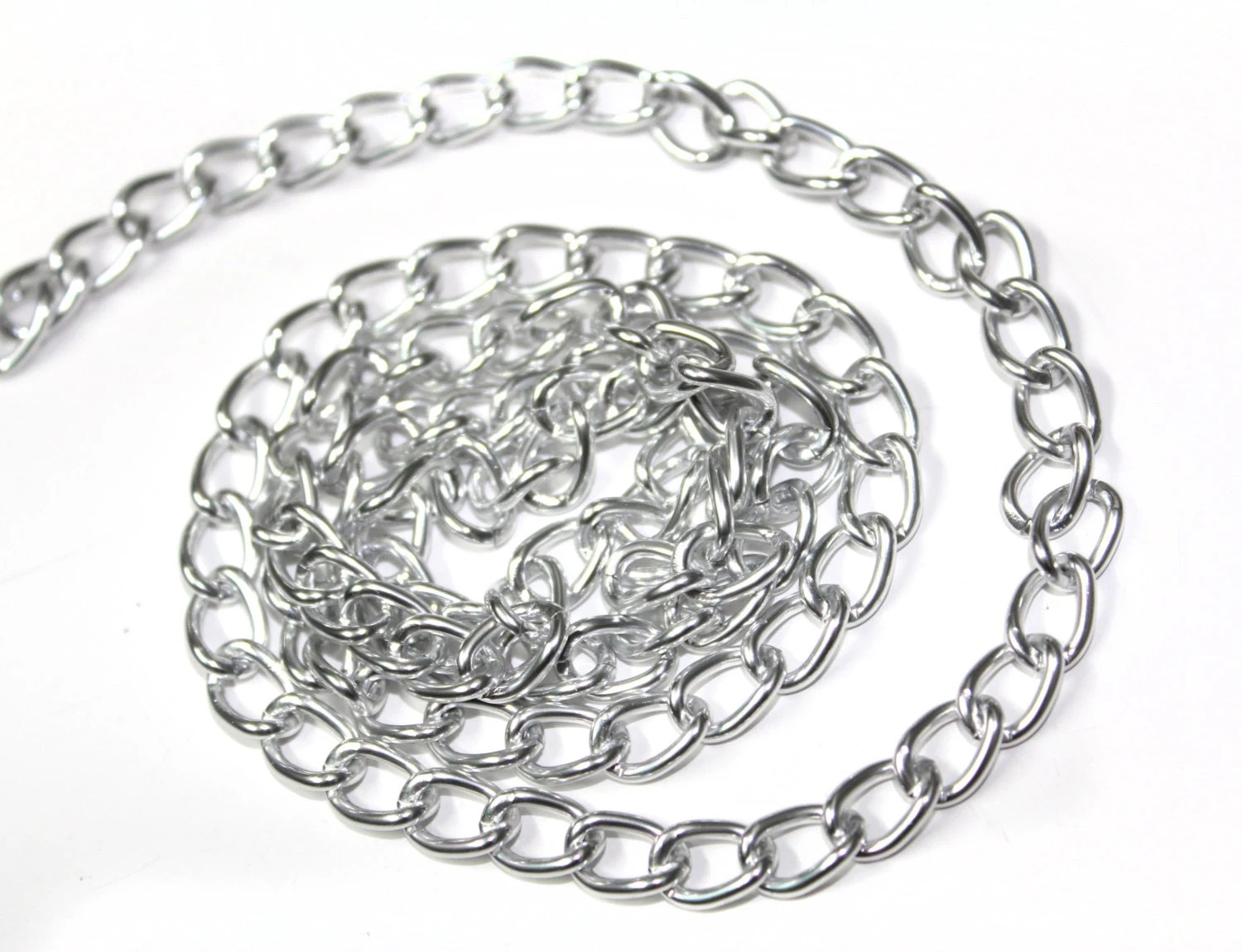 3 Yards Of Silver Shiny Chains Links Trim 0 2 For