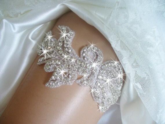 Items Similar To Rhinestone Garter Belts, Wedding Garter