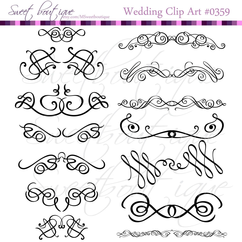 Calligraphy Clip Art Clipart Diy Wedding Invitation Designs