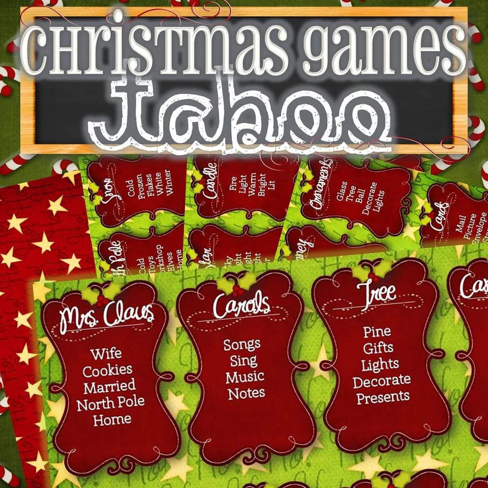 Items Similar To Christmas Taboo Card Game INSTANT