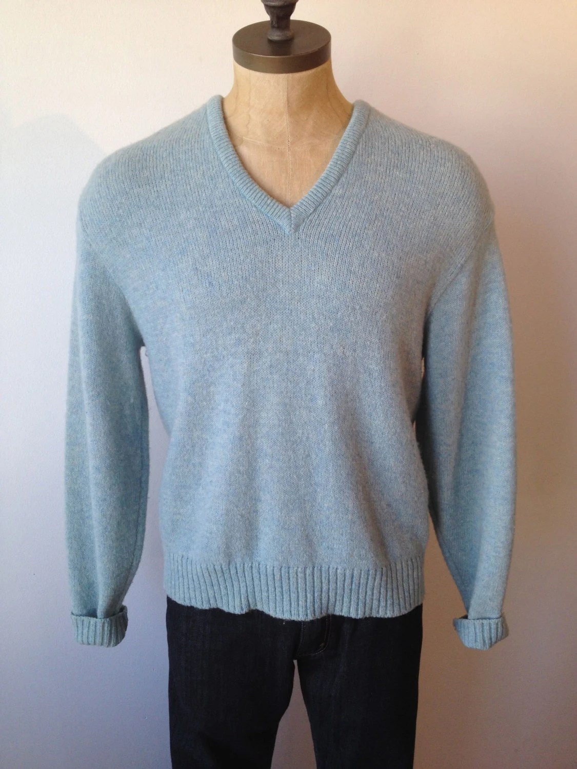 Mens Light Blue Sweater