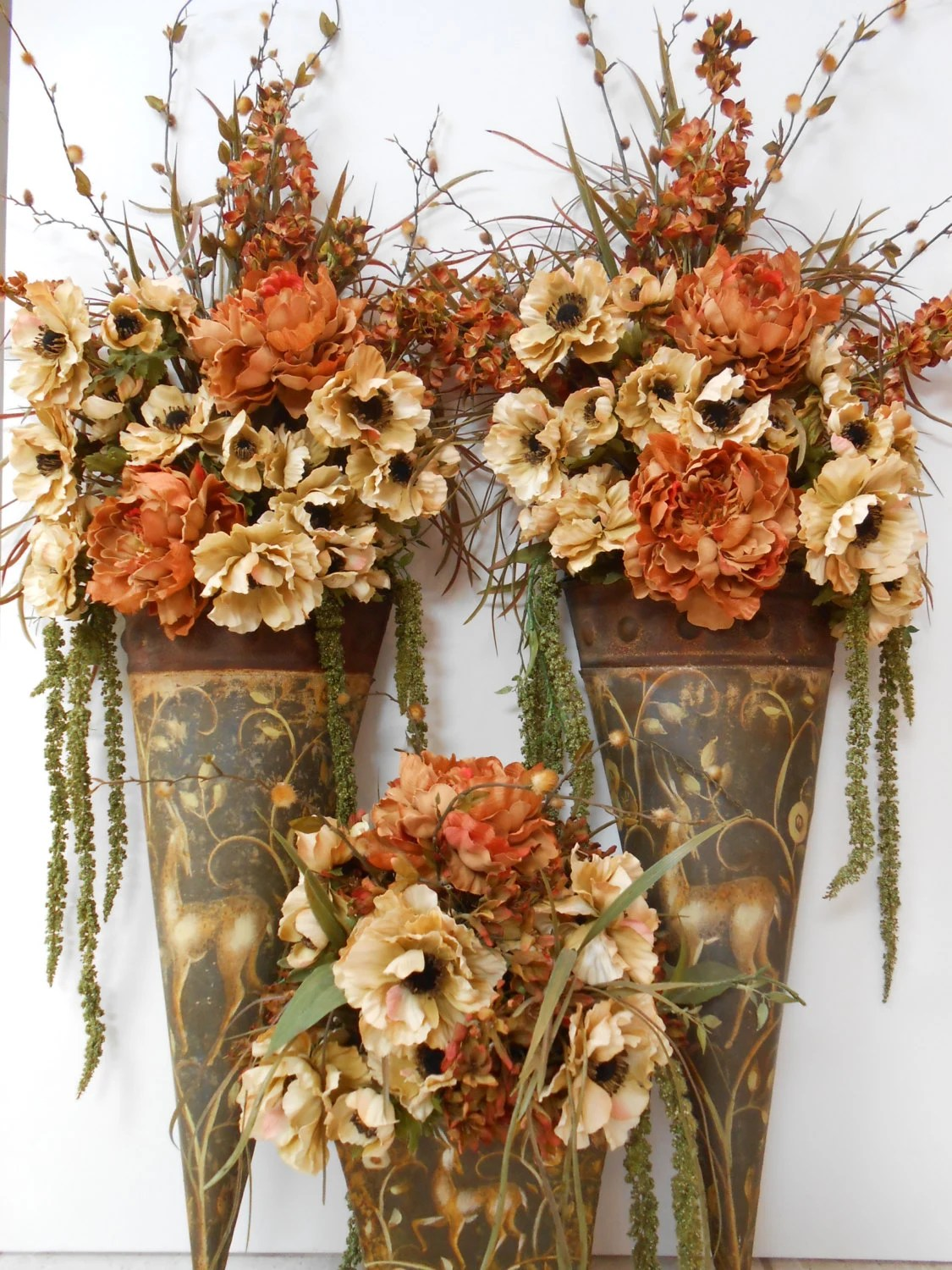 Items similar to SALE / Floral Arrangement / Table and ... on Decorative Wall Sconces For Flowers Arrangements id=92909