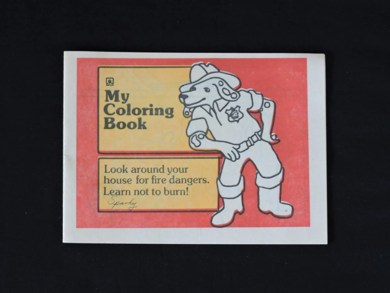 Vintage S Sparky The Fire Dog Fire Safety Coloring