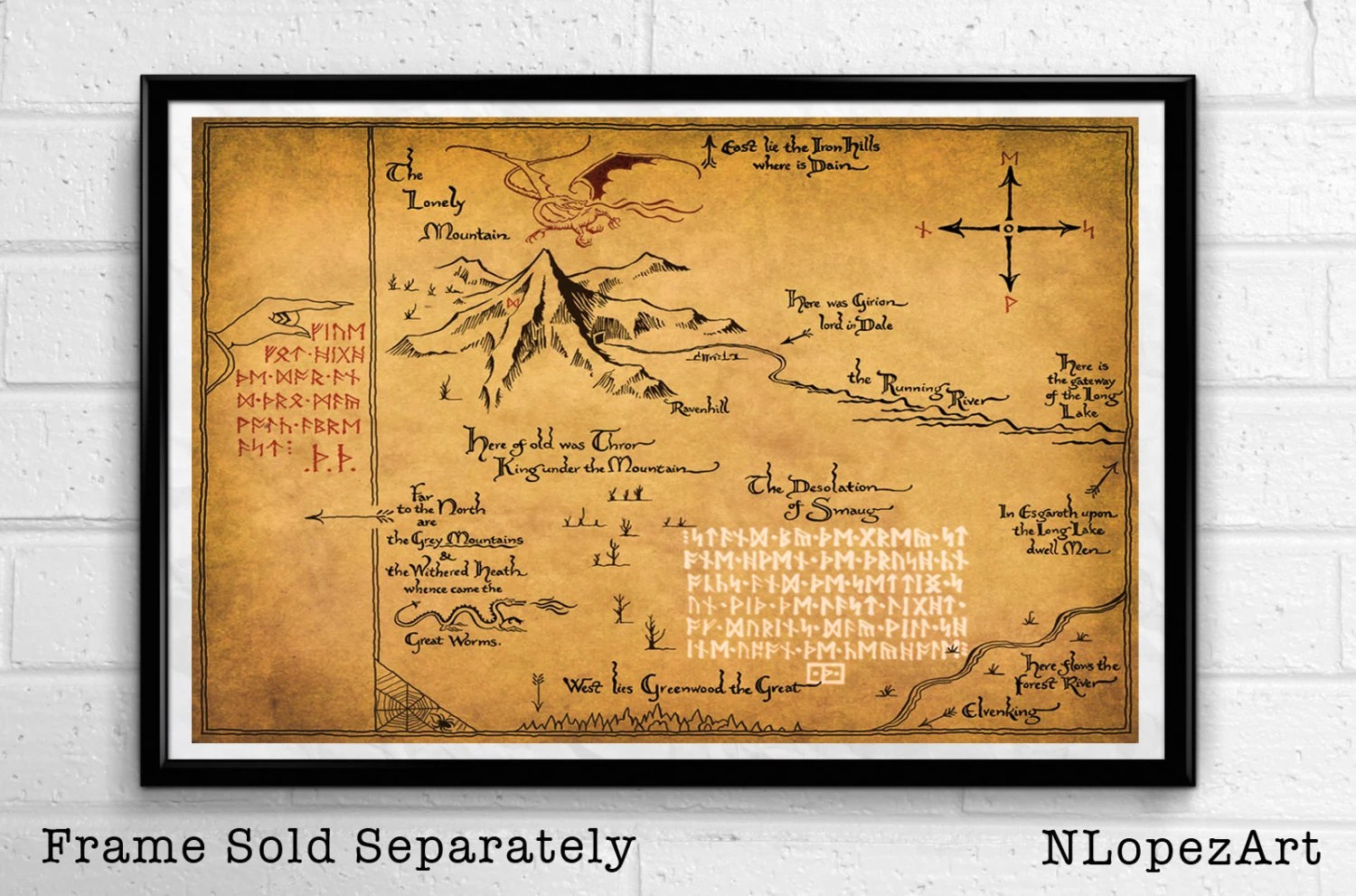 Thorins Map From The Lord Of The Rings And The Hobbit Pop