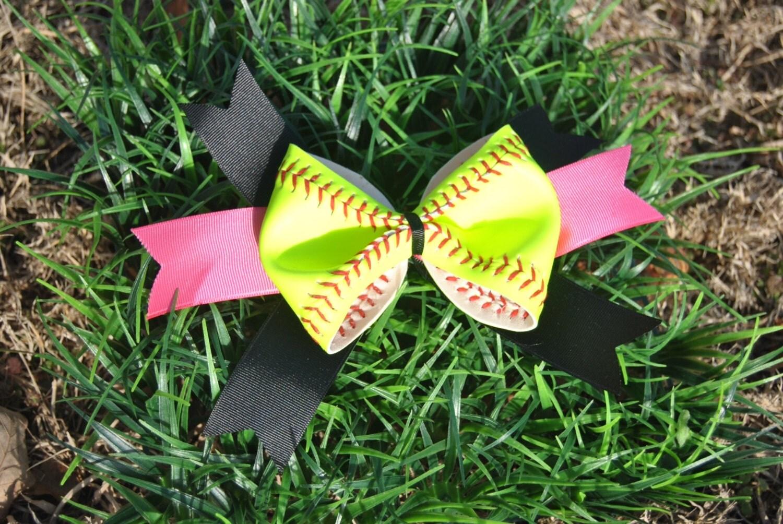 Softball Bow Hair