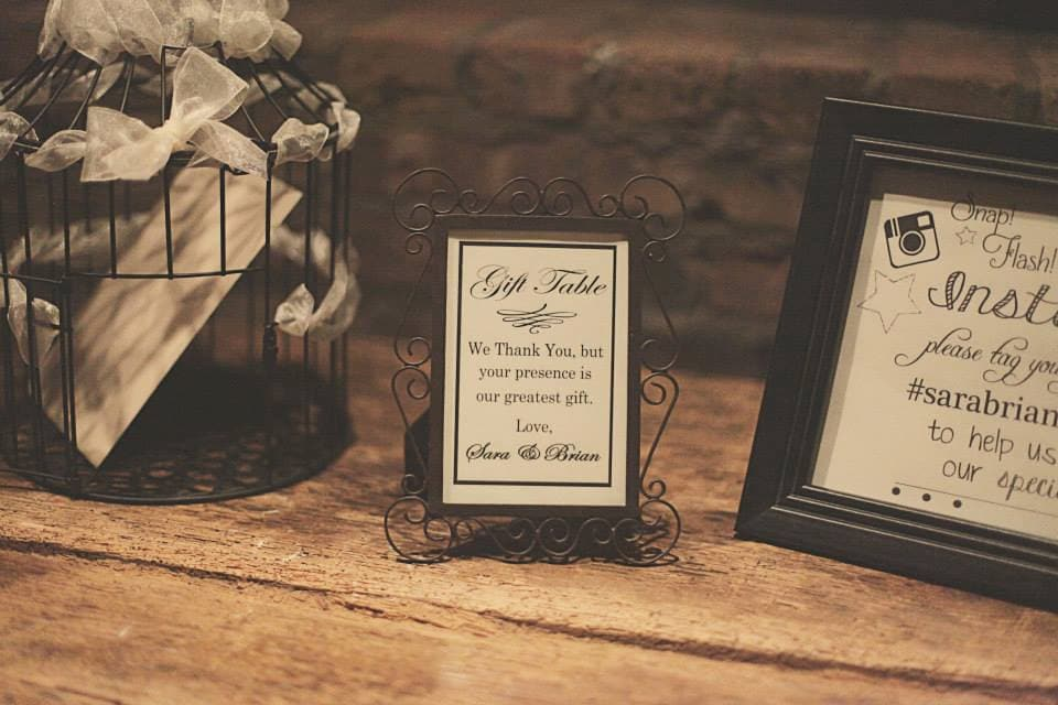 Wedding Gift Sign Reception Table Sign Thank You Sign From