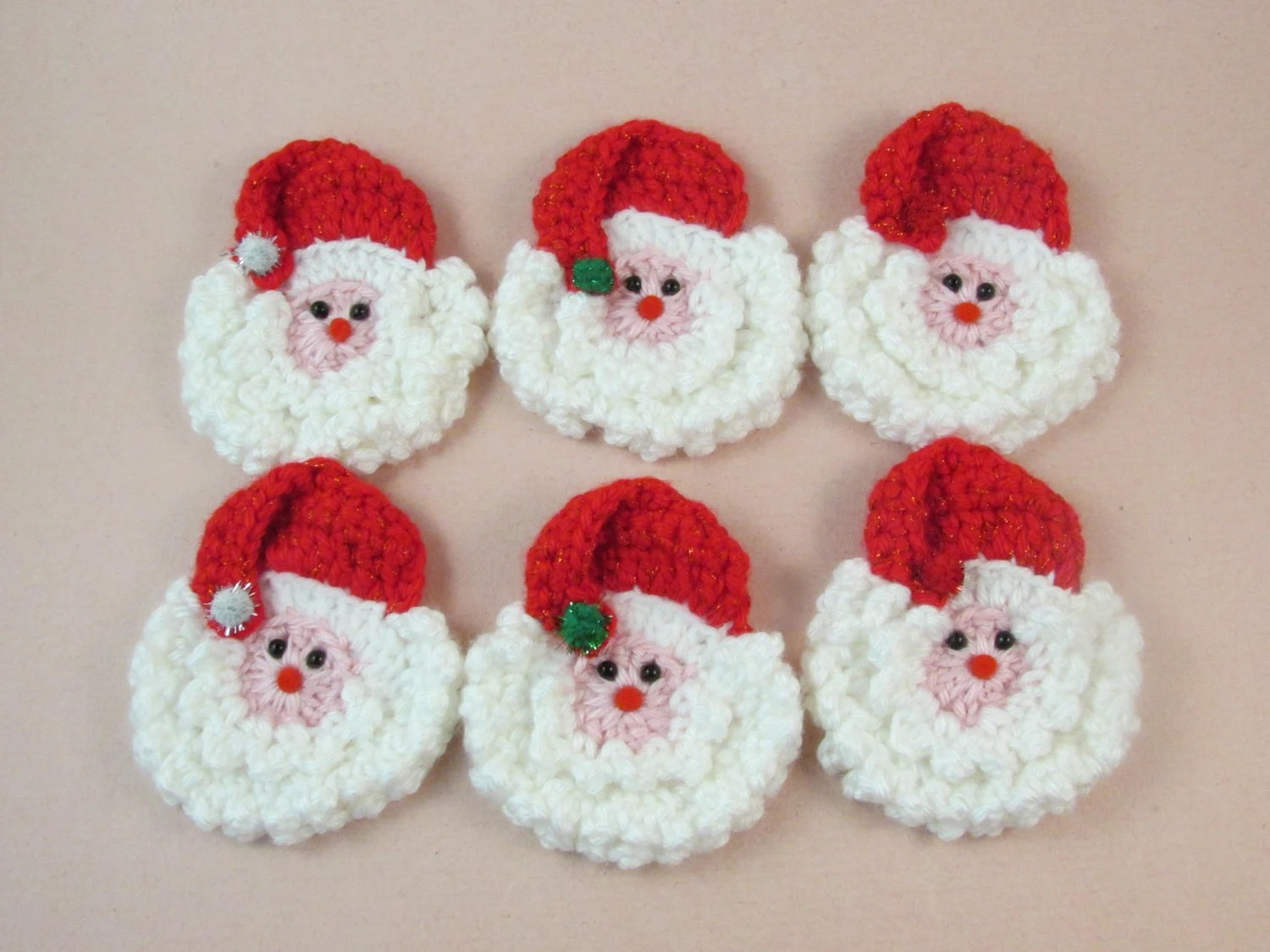 Santa Pattern Crochet Cotton Face