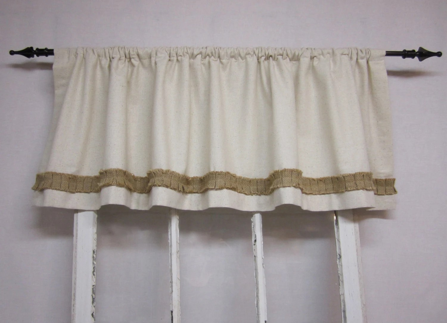 Burlap Curtains Valance Window Valence By Runningwithribbons