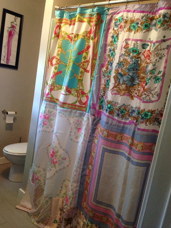 And Shower Blue Curtain Yellow