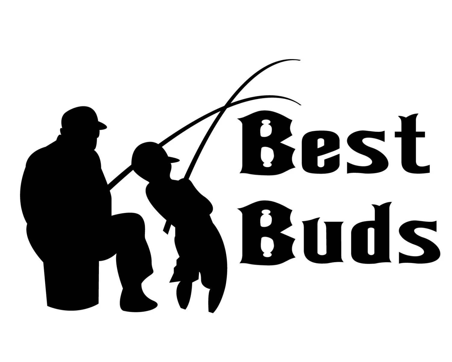 Fishing Decal Best Buds Decal Fishing Lover Sticker