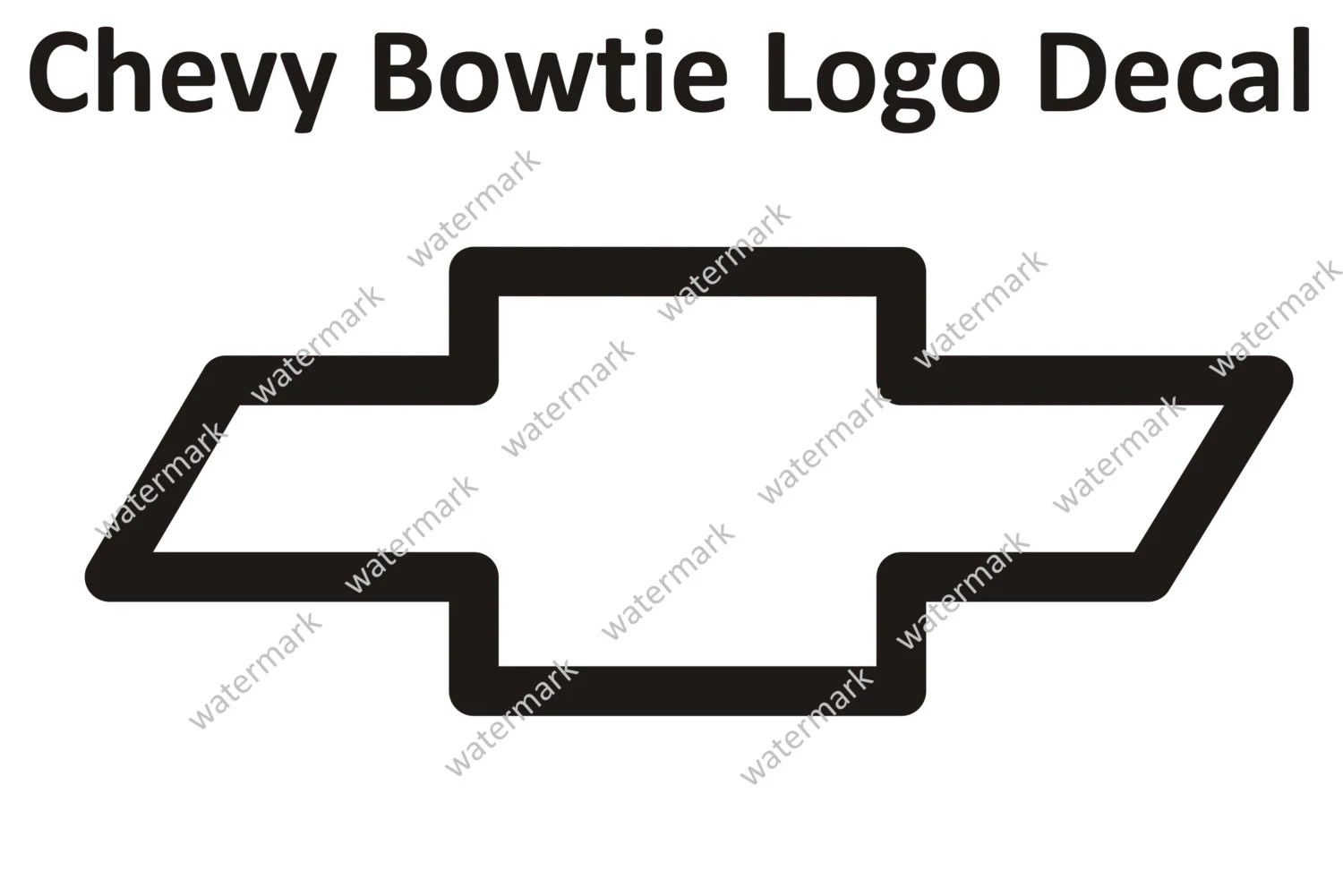 Home Chevy Bowtie Logo 1 Vinyl Decal