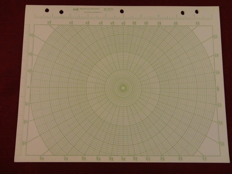 Polar Coordinate Graph Paper K Amp E 46