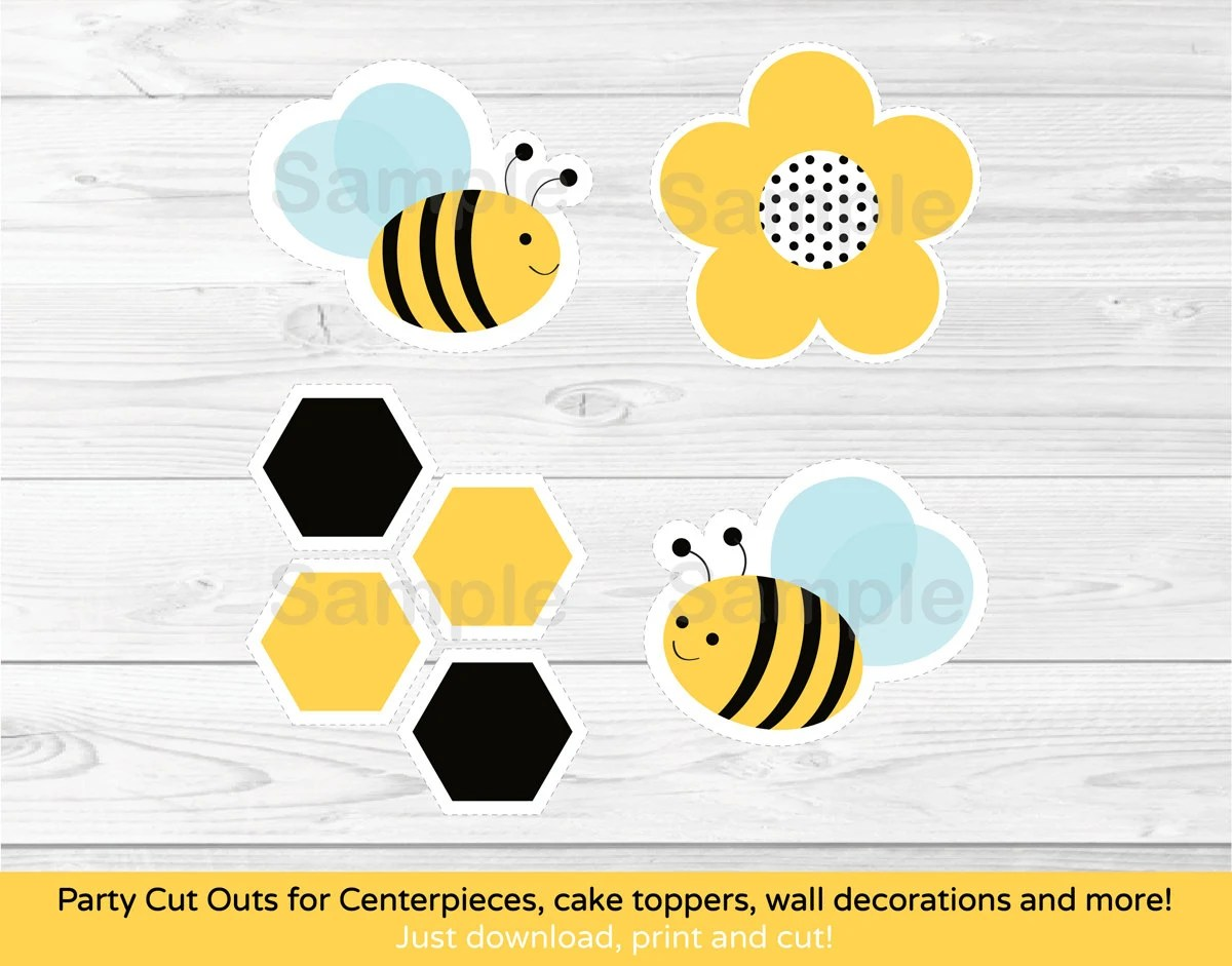 Cute Bumble Bee Cut Outs Bumble Bee Baby Shower Bumble Bee