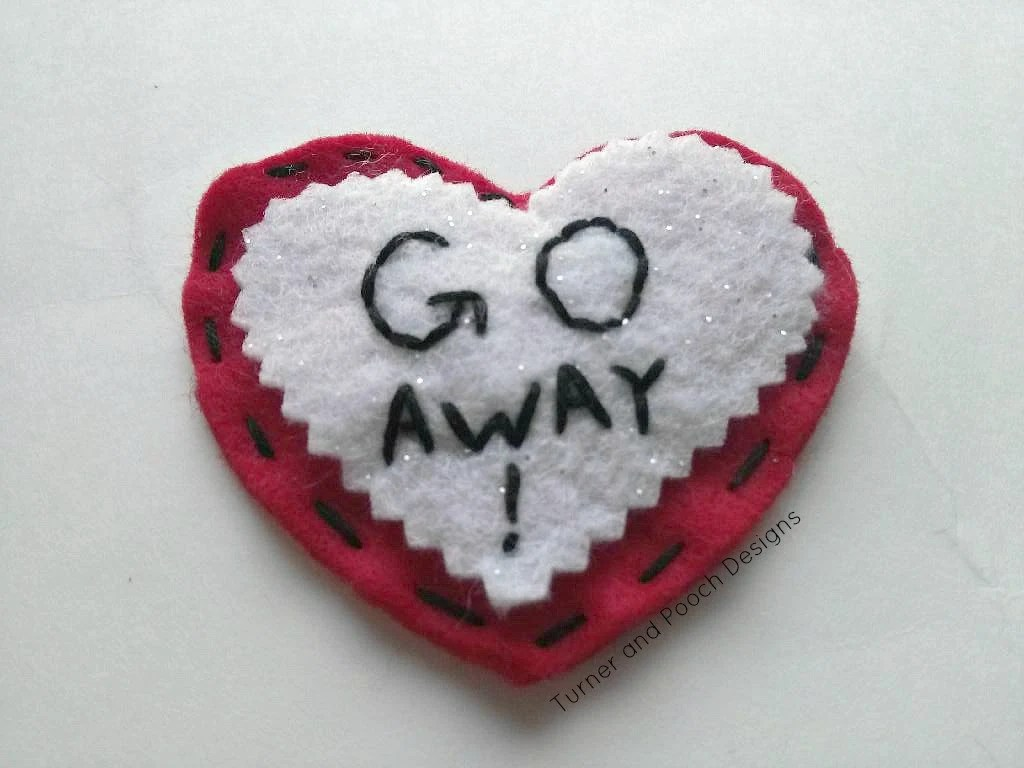 "Valentines Day ""GO AWAY!"" magnet - TurnerandPoochDesign"