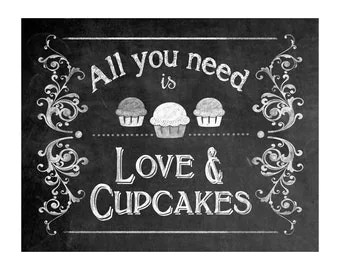 Download Instant Download Wedding-All You Need is Love and Cupcakes ...