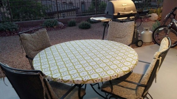 Gray And White Tablecloth