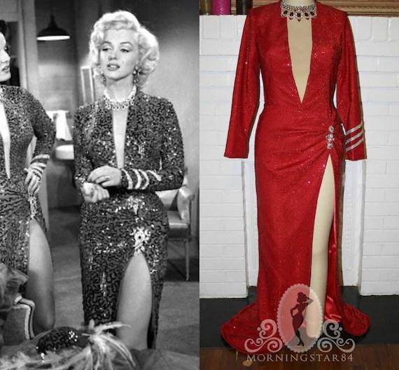 Sequin Dress Red Monroe Marilyn