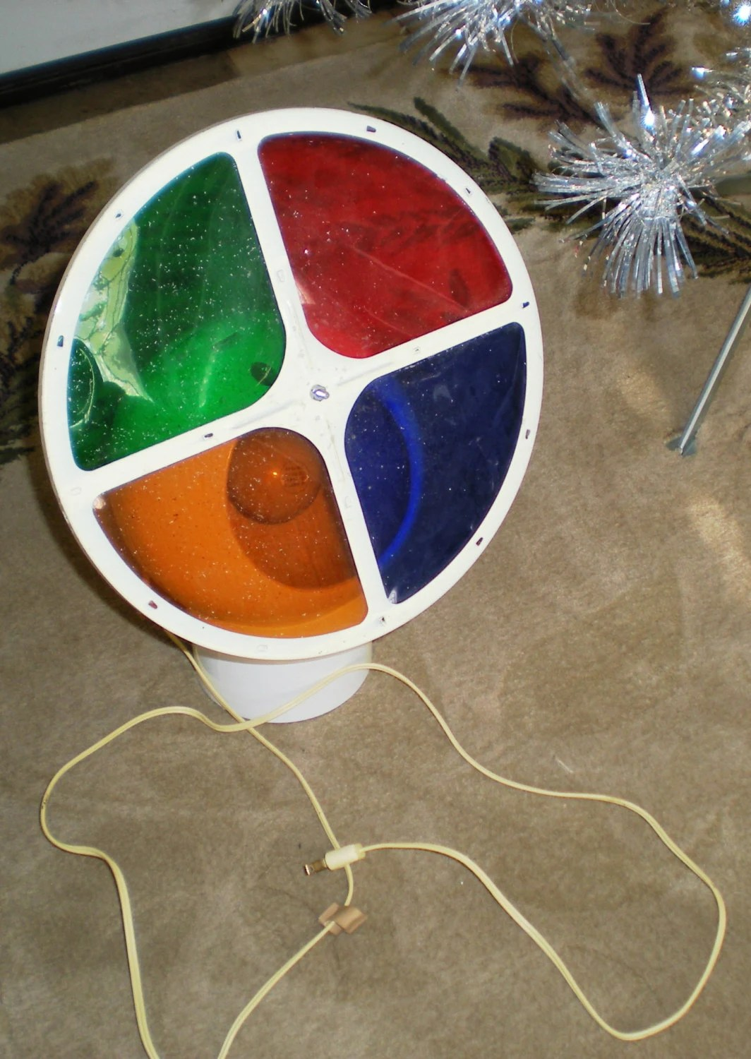1960 S Aluminum Christmas Tree Color Wheel