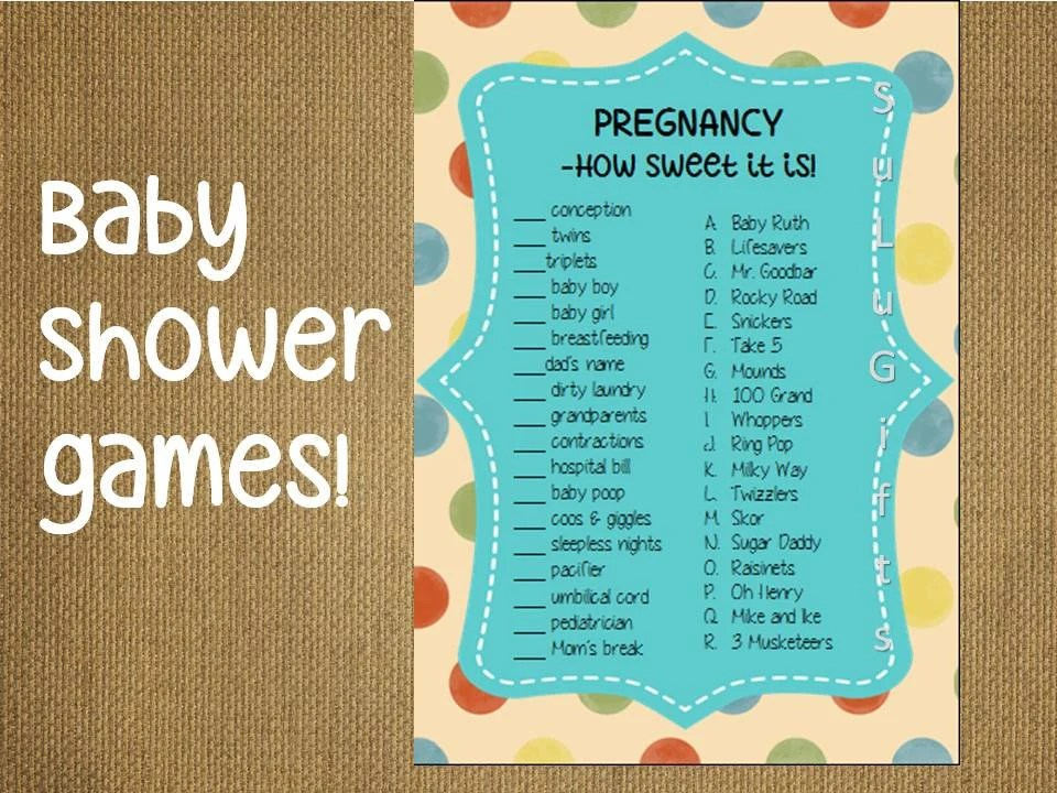 Best Baby Shower Candy Bar Name Game Answers Image Collection