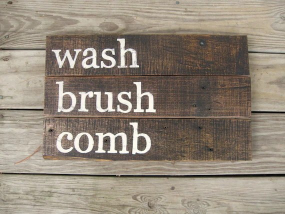 Items similar to Rustic wall decor distressed Wood sign ... on Home Wall Decor Signs id=13579