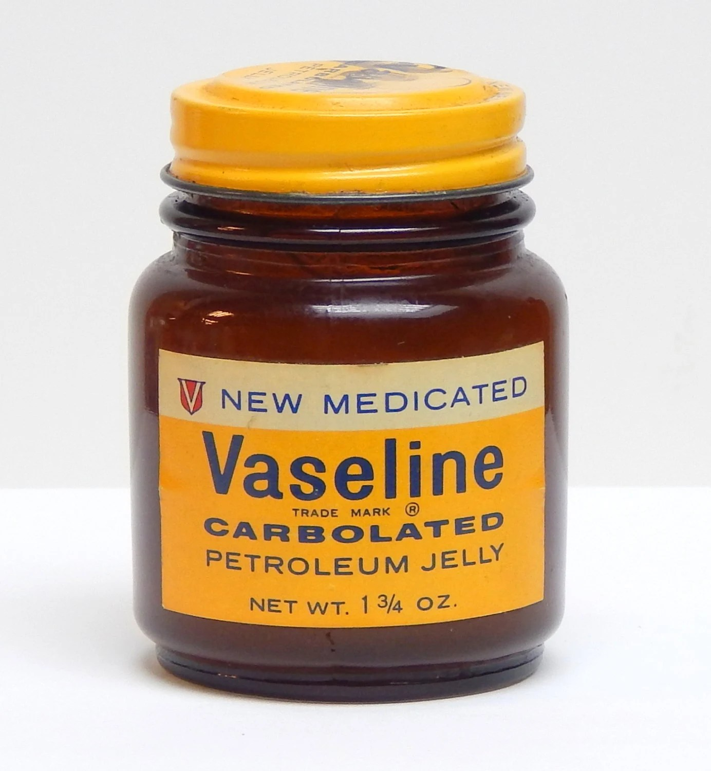 vaseline jar new medicated carbolated petroleum jelly old