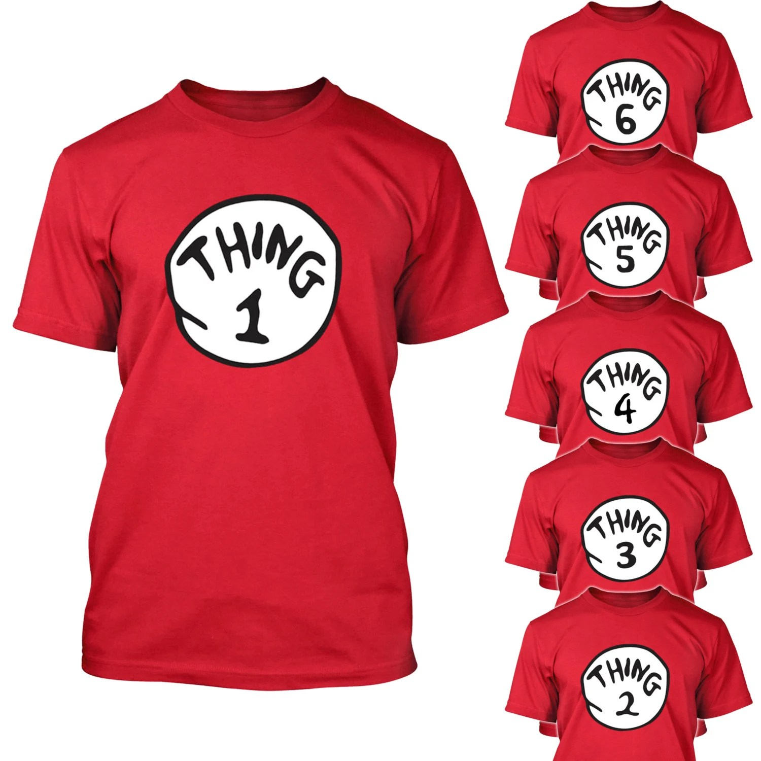 Thing 1 2 3 T Shirt Cat In The Hat Halloween By Niftyshirts